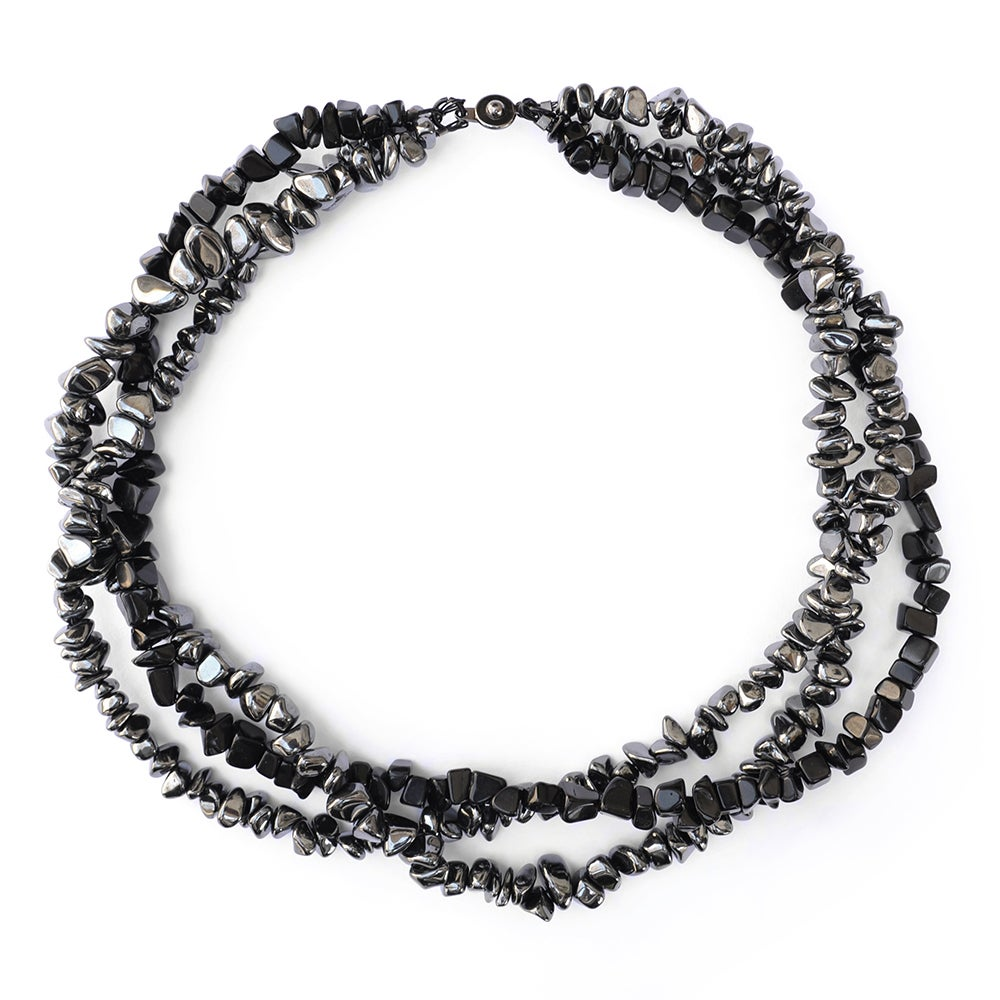 Image of Black and Gunmetal Rock Convertible Bracelet/Necklace