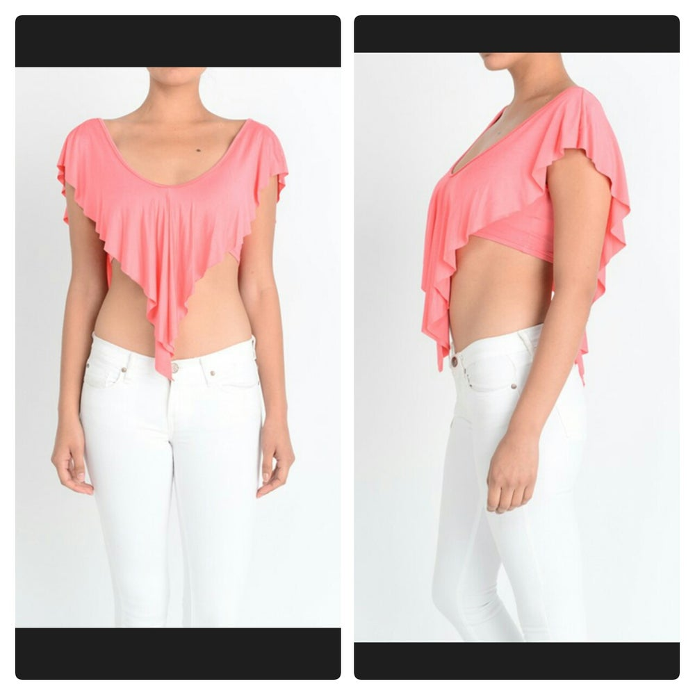 Image of Ruffled Crop Top (Available in other colors)