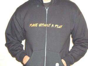 Image of The PWP/Rdub Black Zip Up Hoodie