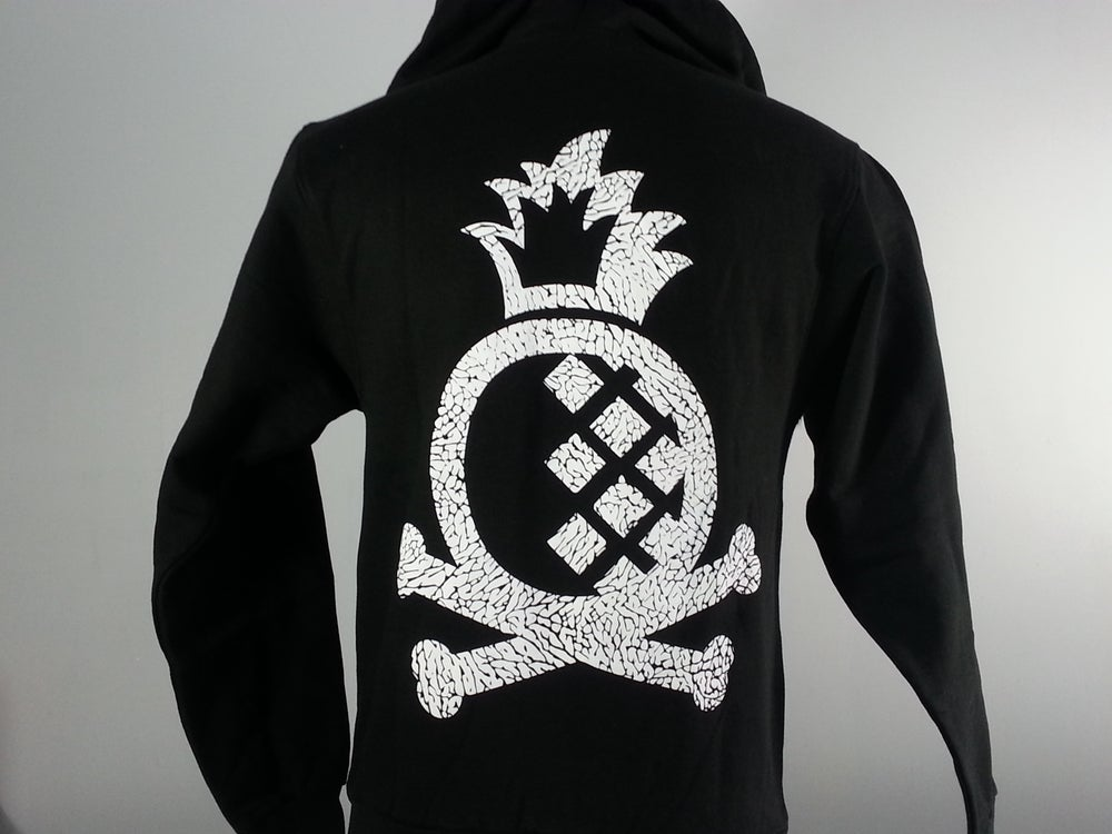 "Image of Pineapple Crossbones Unisex Hoodie - Black ""Elephant"""