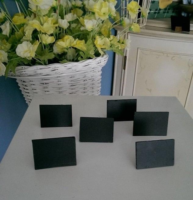 Mini slanting chalkboards (7 per pkt)