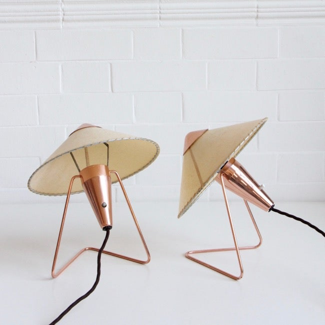 Image of  pair of table/wall lamps by Helena Frantova for OKOLO