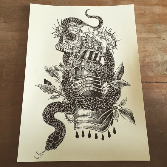"Image of ""Serpents and Kings"" A2 Screen Prints"