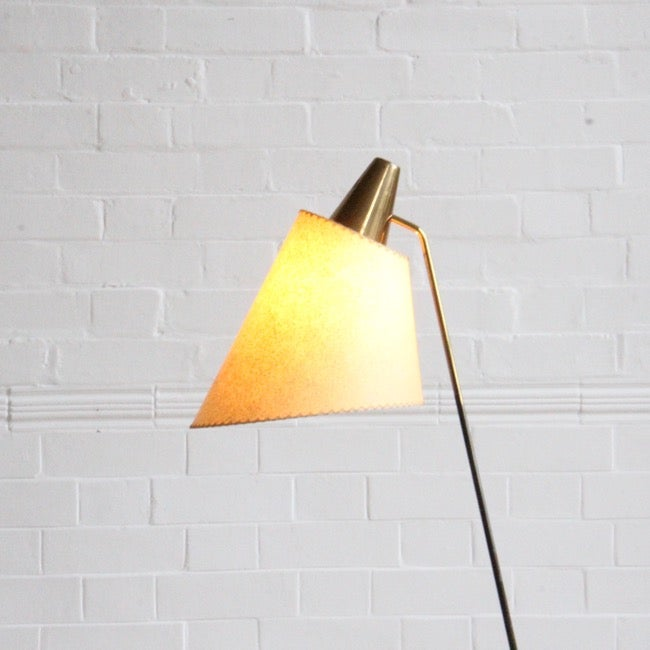 Image of Brass floor lamp by Josef Hurka
