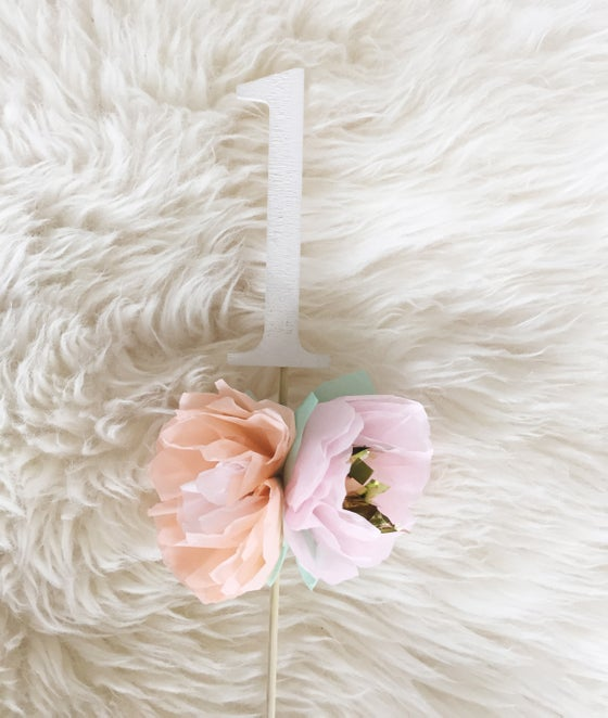 Image of Floral Number Cake Topper