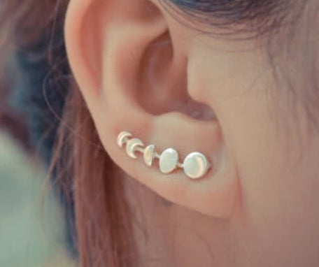 Image of Moon phase earrings/ear pins