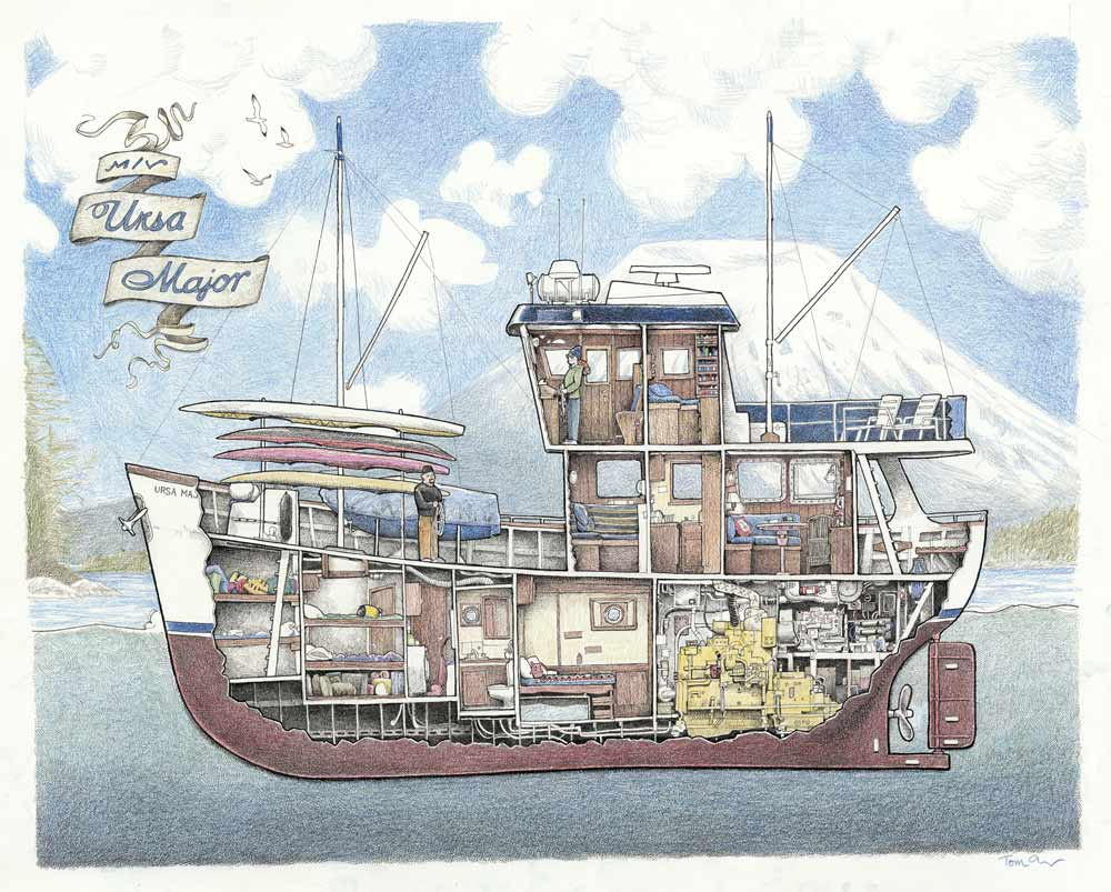 Image of M/V Ursa Major Cutaway