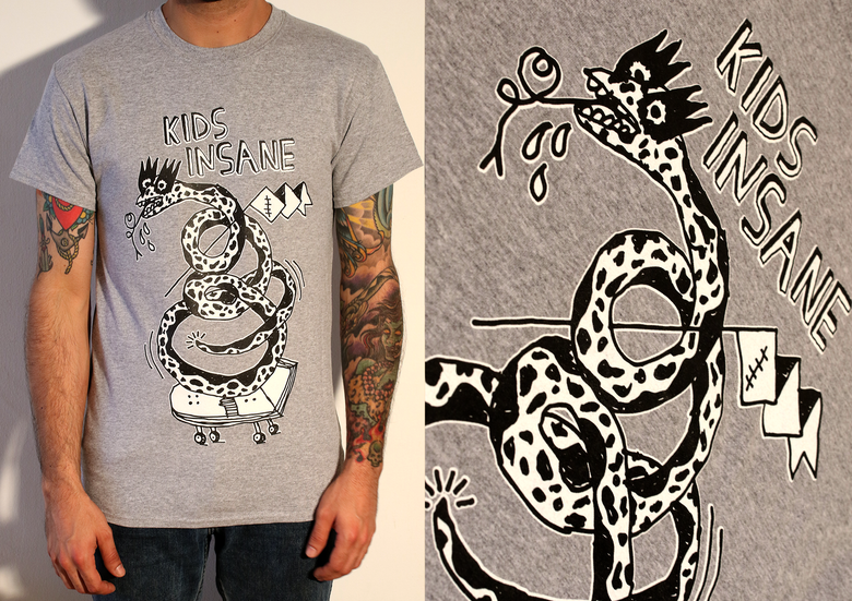 Image of 'Snakeboard' Grey T shirt