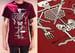 Image of 'Skeleton' Maroon T shirt