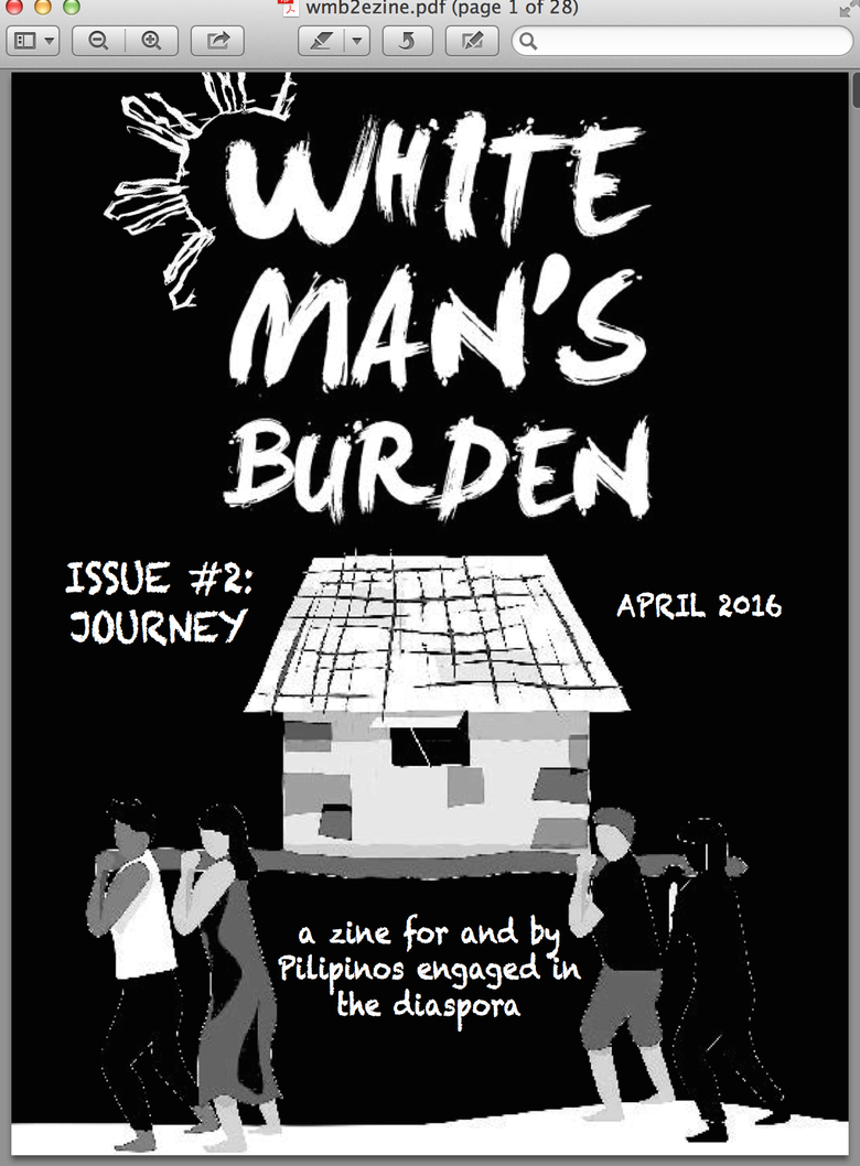 Image of White Man's Burden Issue #2 (e-zine download)