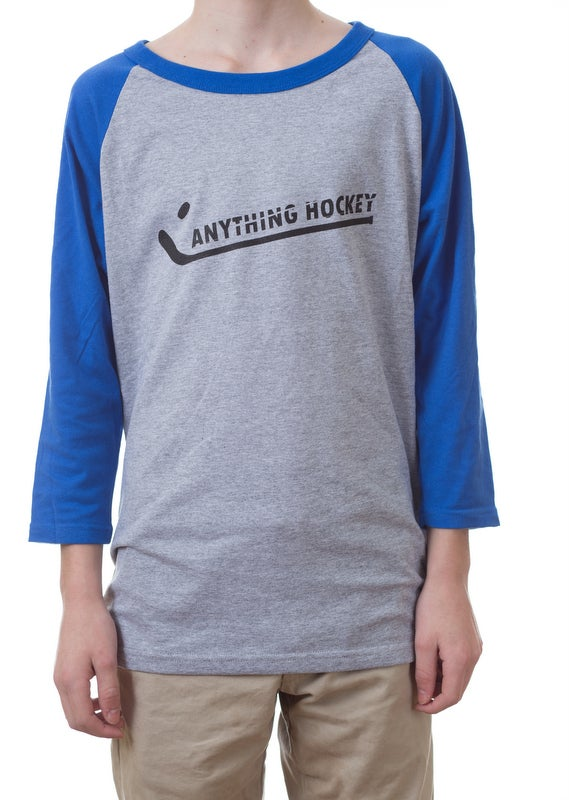 Image of Anything Hockey Logo -Raglan (3/4 sleeve)