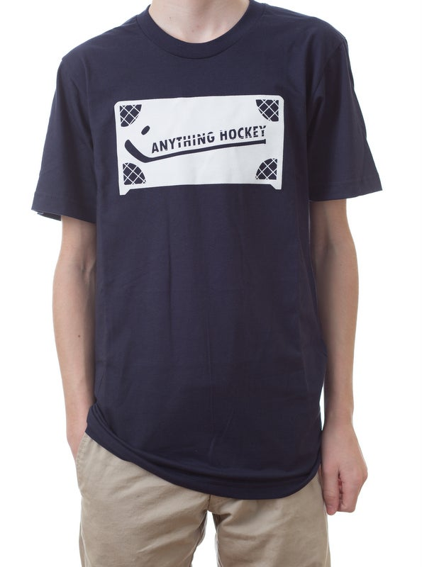 Image of Anything Hockey Logo t-shirt - Navy only