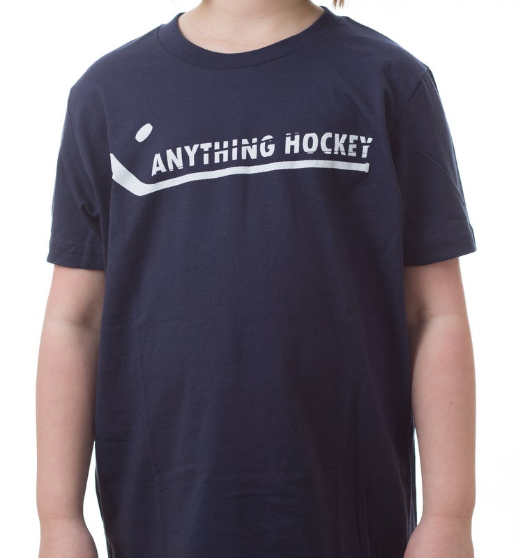 Image of Anything Hockey logo t-shirt - Navy