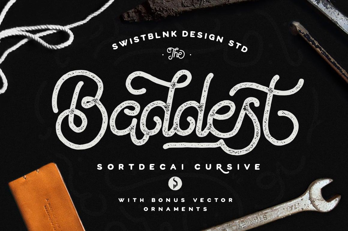 Image of Sortdecai Cursive Script