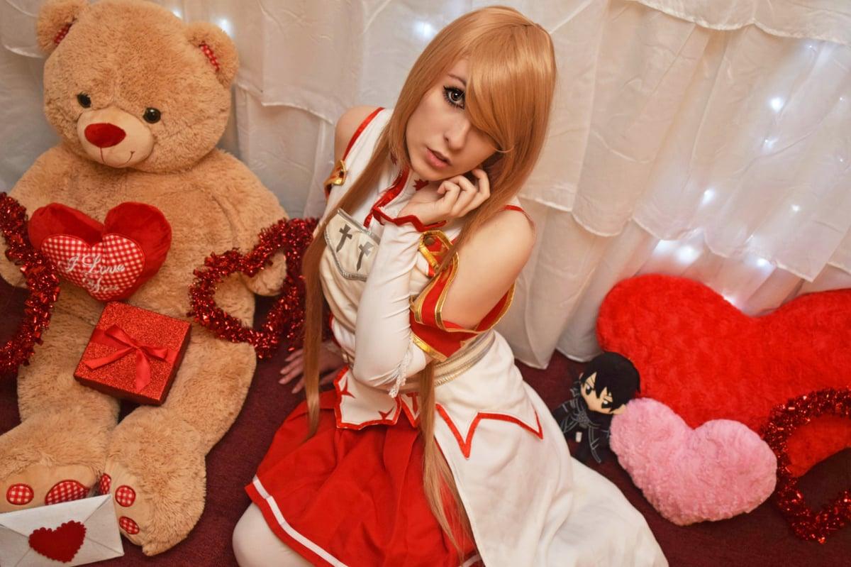 Image of Valentine's Asuna Yuuki Photoset