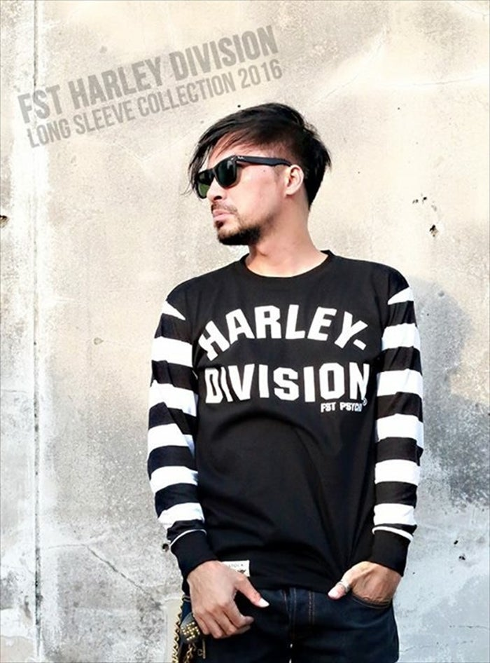 Image of FST HARLEY-DIVISION LONG SLEEVES WHxBK
