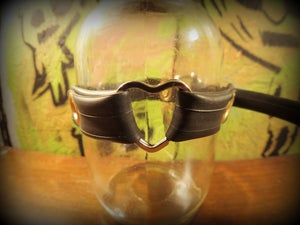 Image of Choker with Heart Ring - recycled bicycle tube