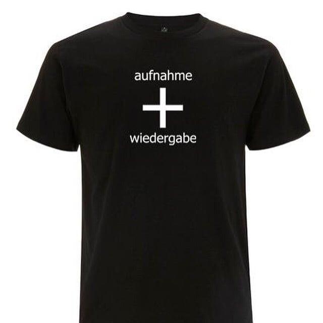 Image of aufnahme + wiedergabe Logo T-Shirt