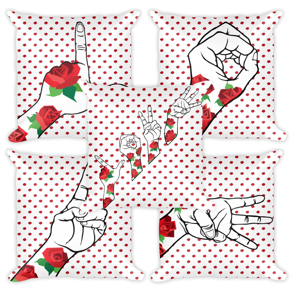 Image of The Love Movement Rose Bud SINGLE PILLOW.