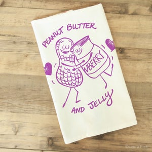 Image of Peanut Butter and Jelly Tea Towel