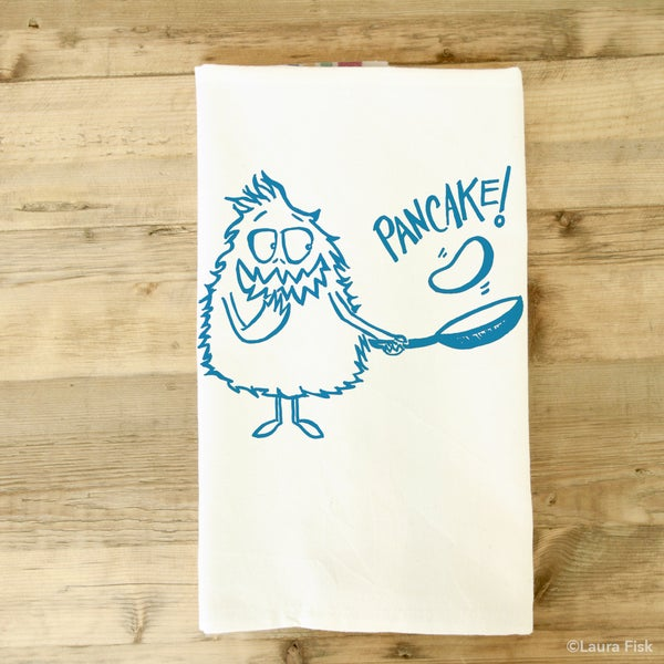 Image of Pancake Monster Tea Towel