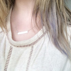 Image of Wanderlust Necklace - sterling silver and moonstone ONE LEFT