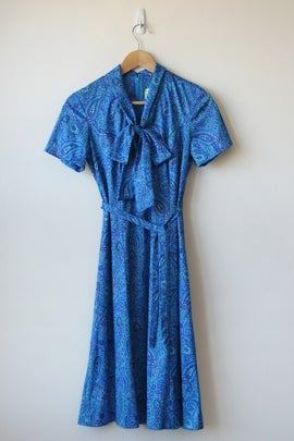 Image of SALE Blue Paisley Dress (Orig $52)