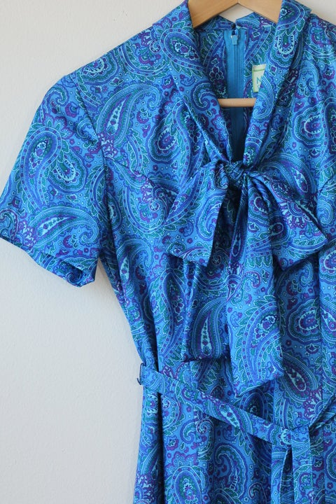 Image of Blue Paisley Dress