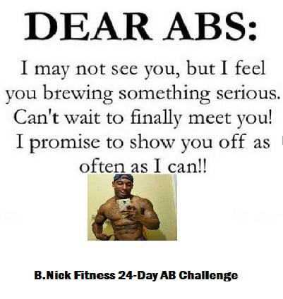 Image of B.NICK FITNESS 24-DAY AB CHALLENGE