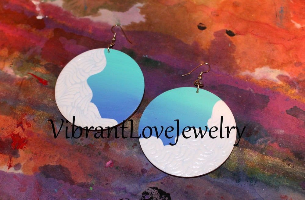 "Image of 'Cloudful of Love"" Earrings!"