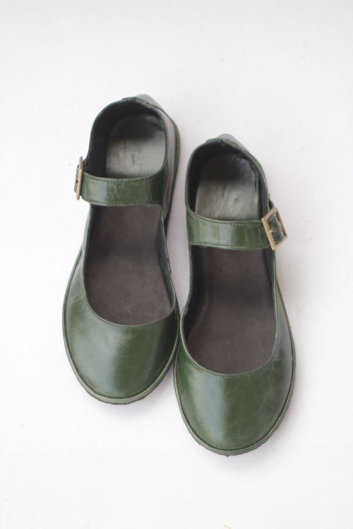 Image of Mary Janes - Alma Libre in Natural Green