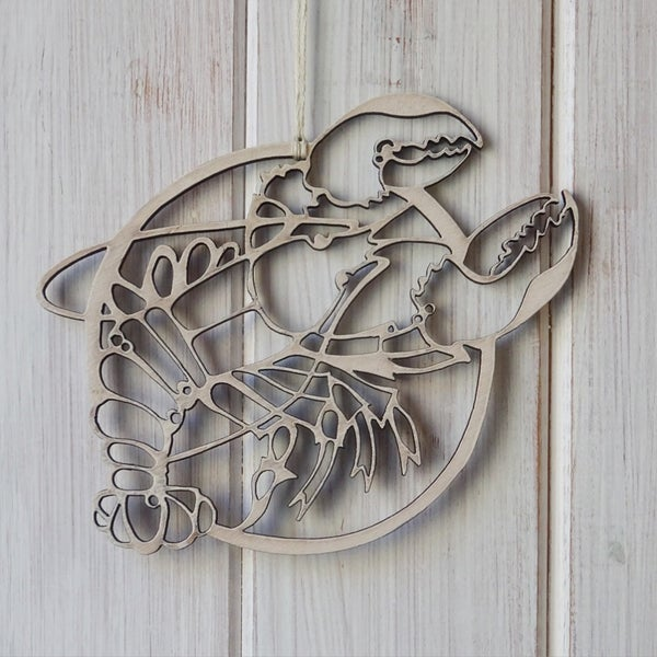 Image of Lobster wooden decoration