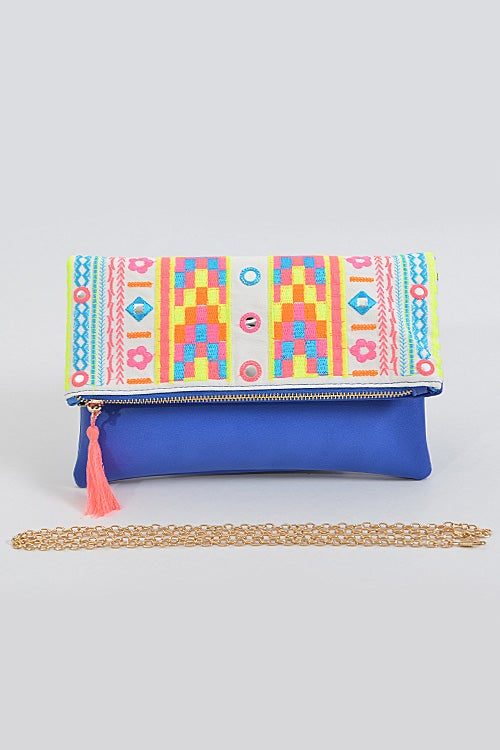 Image of Out To Flash You Clutch With Intricate Pattern