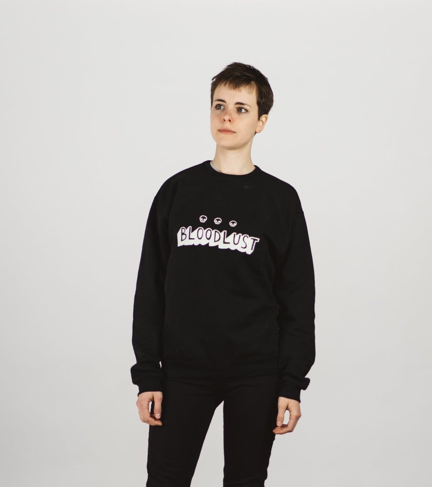 Image of BLOODLUST GLOW-IN-THE-DARK CREWNECK