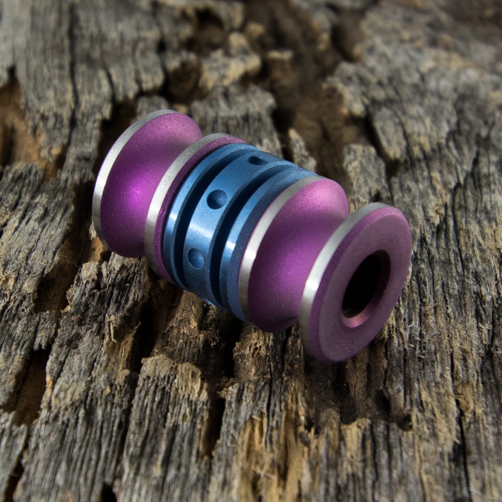 Image of Pink & Blue with a Satin Finish Triple Bead Set #4