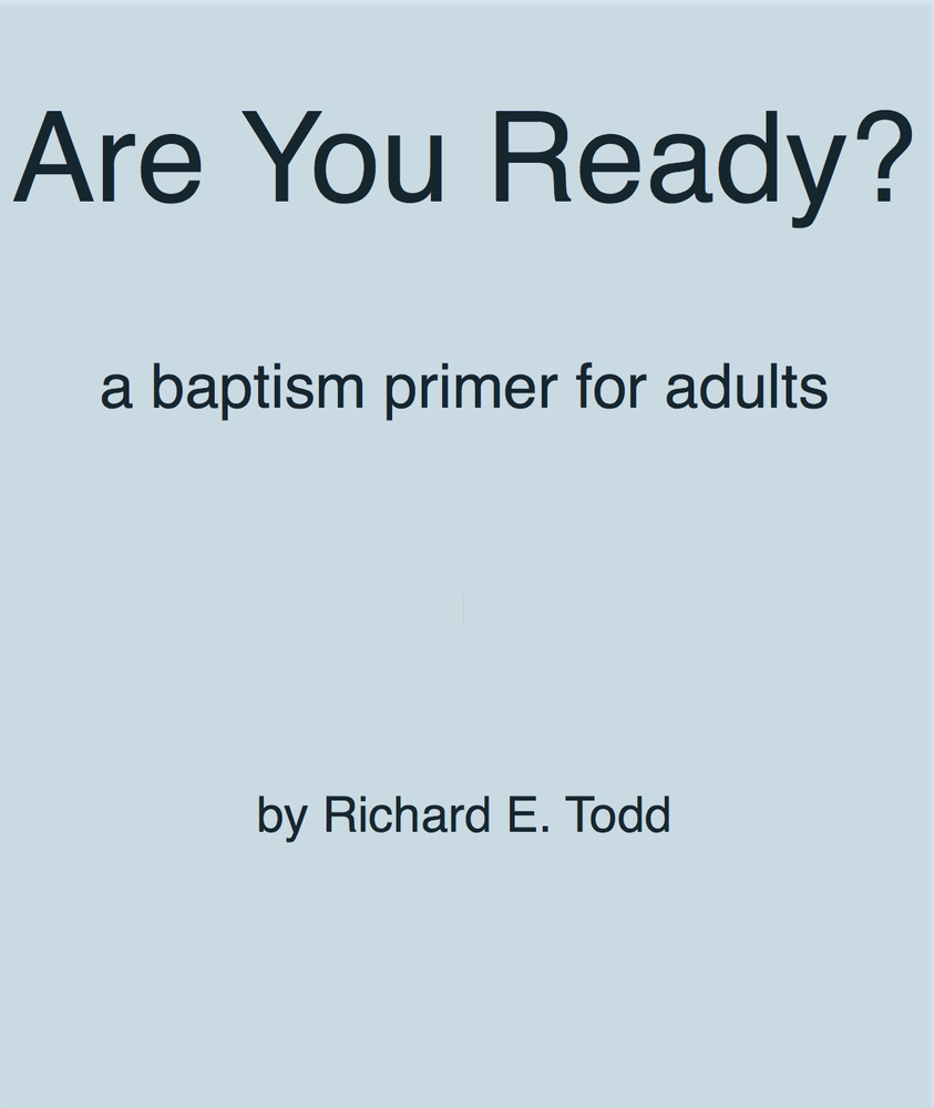 Image of Getting Ready (adult baptism)