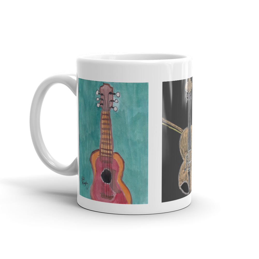 Image of Guitar and fiddle coffee mug