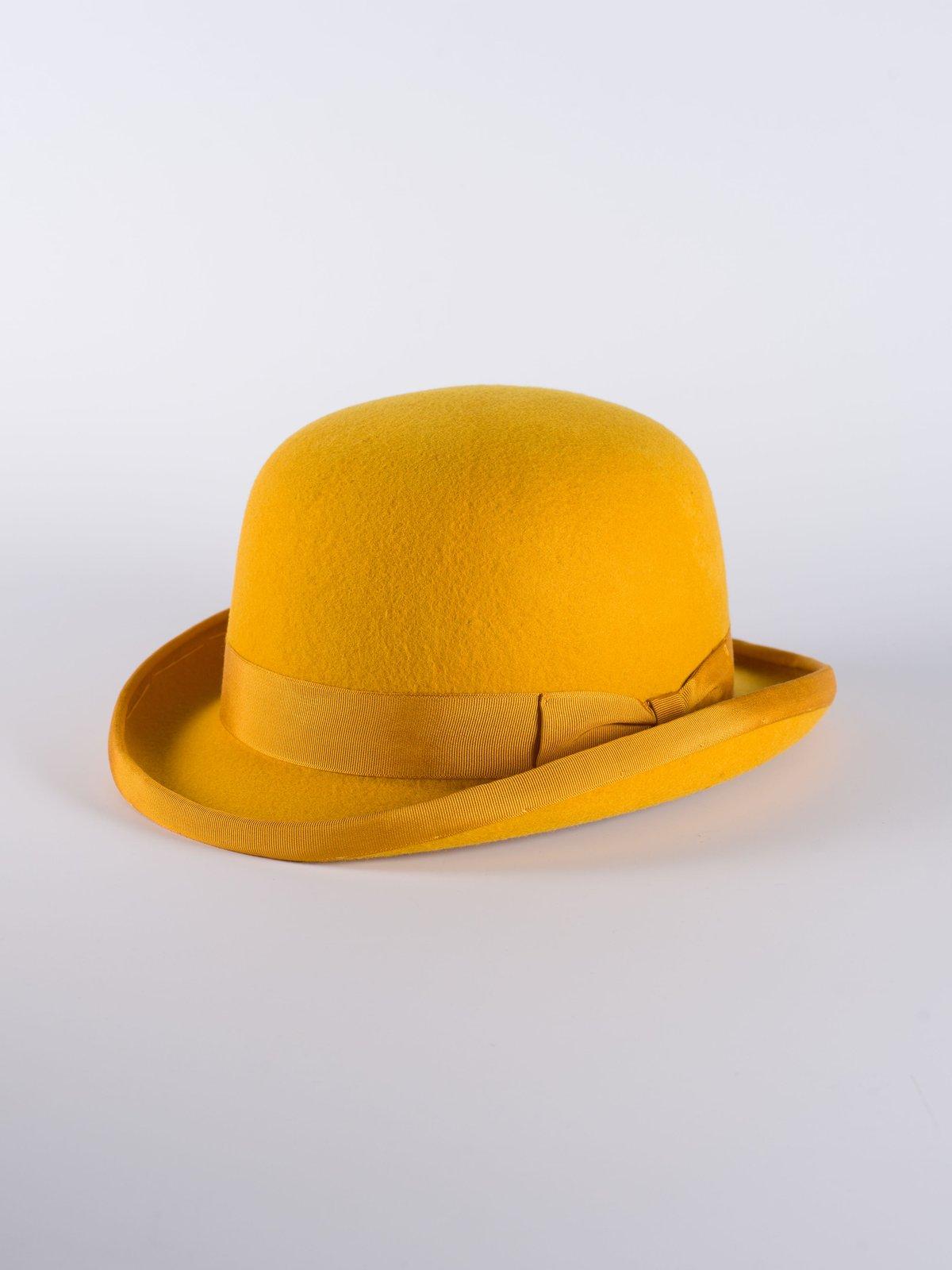 Mustard Bowler Hat  19495718dce