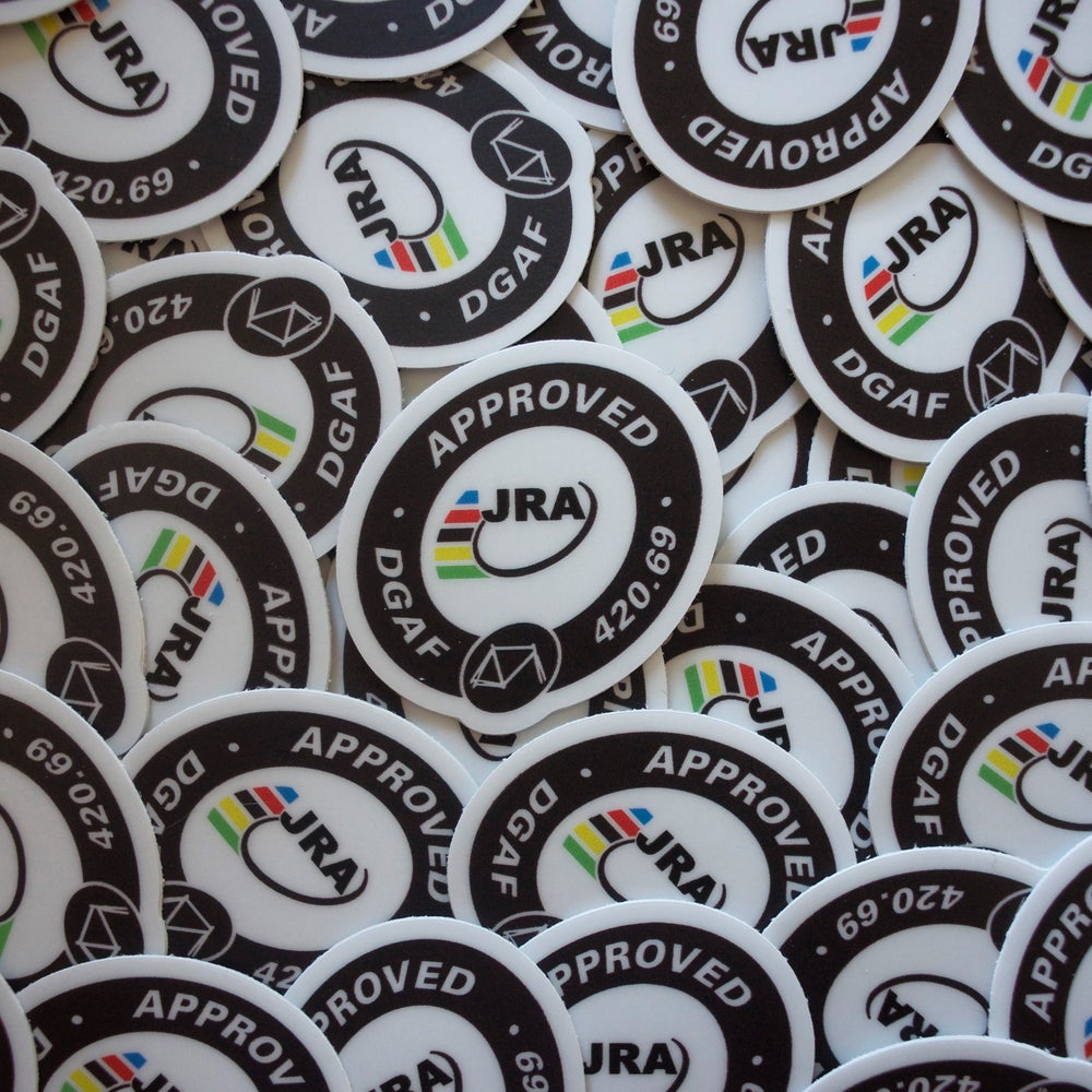 JRA Approved Stickers