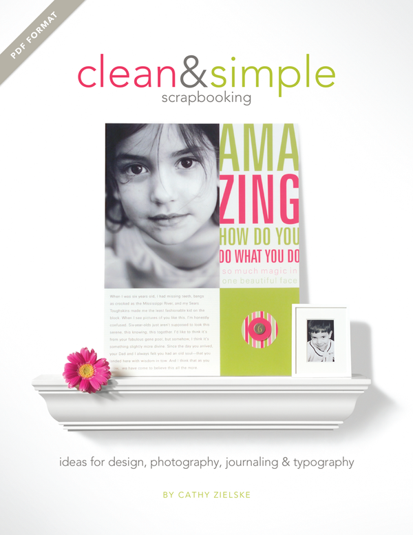 Image of PDF Book: Clean & Simple Scrapbooking