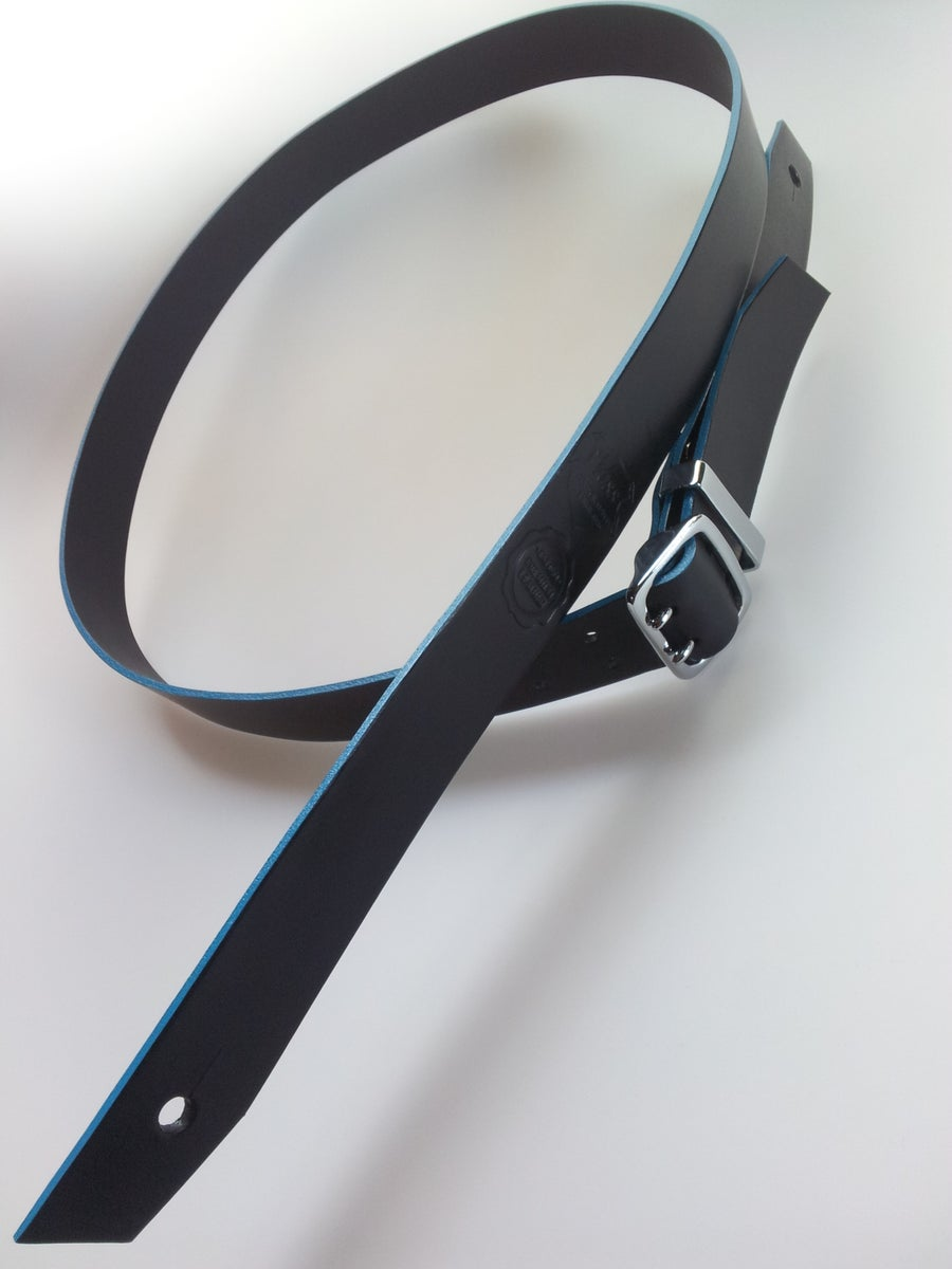 Image of Count Loop Chrome / Guitar Strap + Aqua Edge / Colour Options