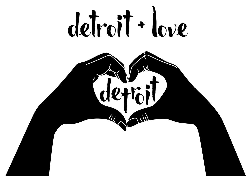 Image of Detroit Love Print
