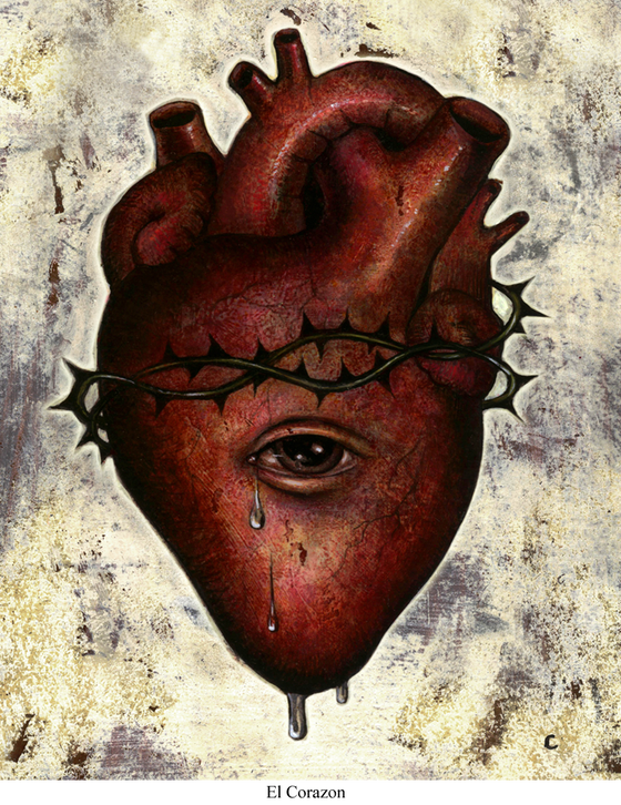 Image of Canvas Giclee- El Corazon