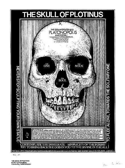 "Image of Paul Laffoley  ""Skull of Plotinus"" signed print"