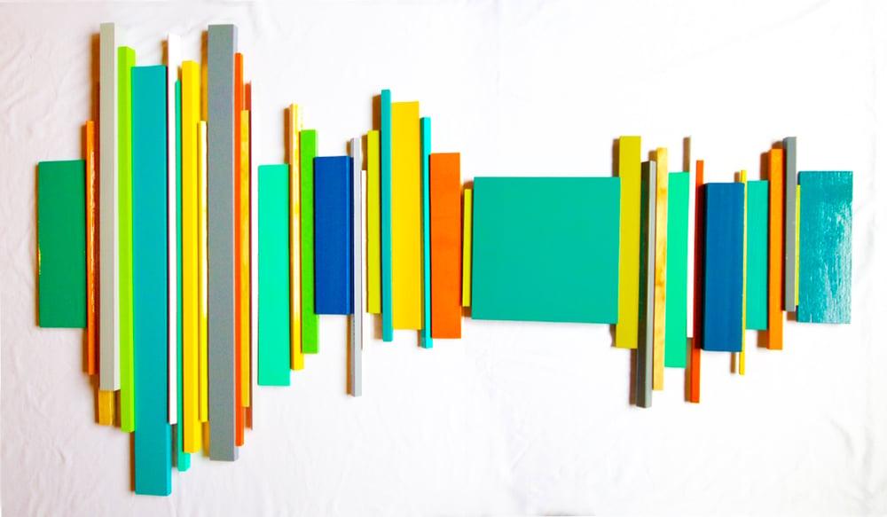 Image of 'SOUNDWAVE NO 16.3' | 3D Wall Sculpture | Modern Abstract Painted Wood Art | Modern Art