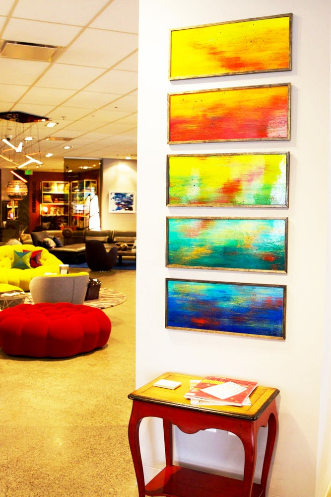 Painted Wood Art Panels | Ombre Wall Art | Corporate Artwork ...