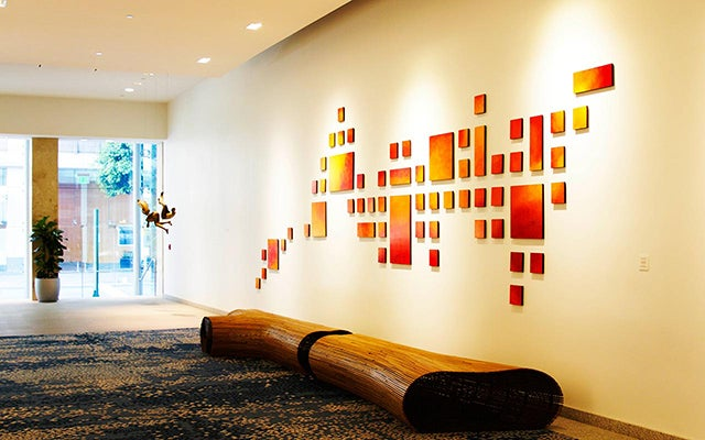 Commercial Wall Sculpture | Art Installation | Painting Wood Wall ...