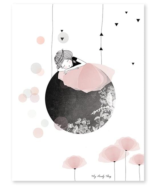 """Image of Lámina Infantil """"Siesta en la Luna"""" (antes 21.00€)"""