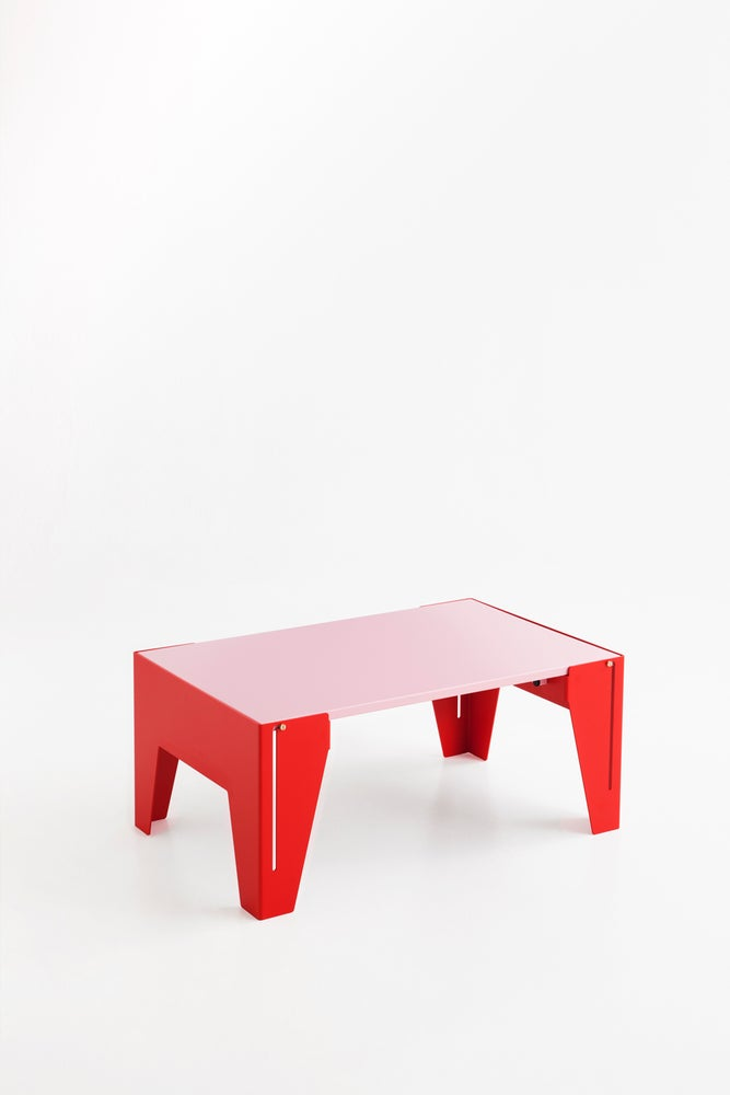 Image of Falcon Red & Light pink Coffee Table