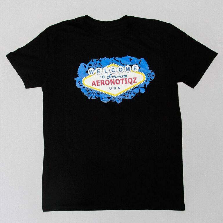 "Image of Black ""Futurism"" Tee Shirt"